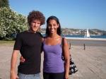 Zac et Martina, mes amis du jour à Belém de Lisbonne.